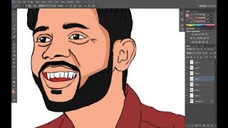 Comment dessiner Cartoon DP dans photoshop(Ravi)