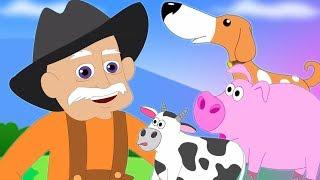 ฟาร์มแมคโดนัลด์เก่า | เด็กบทกวี | สัมผัสสำหรับเด็ก | การ์ตูน | Kids Song | Old Macdonald Had A Farm