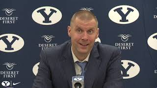 BYU Men's Basketball vs Montana Tech - Mark Pope postgame interview