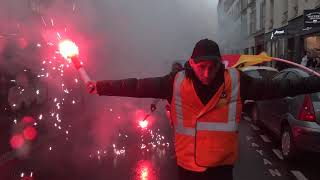 Manifestation sauvage des cheminots (9 avril 2018, Paris)