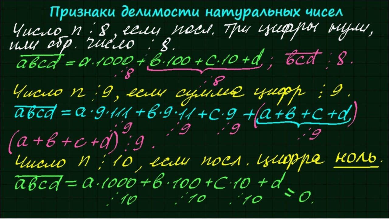 Алгебра теория чисел делимость