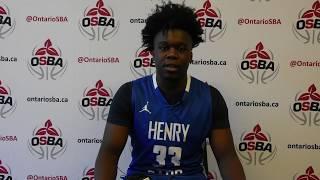 Henry Carr's 2020 Guard Joshua Morgan - OSBA