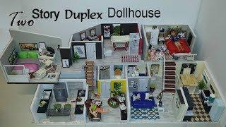 DIY Miniature Two Story Duplex Dollhouse