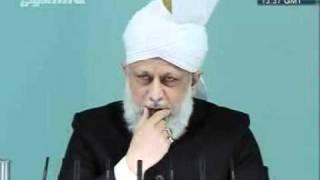 urdu  khutba juma jamaat ahmadiyaa 09 DEC 2011  imam mahdi AS CLIP 4