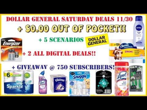 💪FREE!!+ Dollar General Deals 11/30 + All Digital Couponing + Dollar General Scenarios (5)+GIVEAWAY