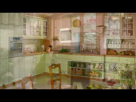 Интерьер кухни фисташкового цвета