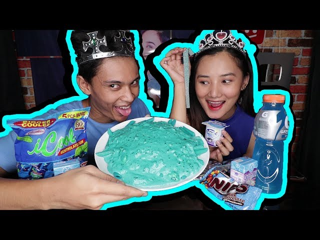 I only ate BLUE food for 24 hours (BLUE CARBONARA!!!)