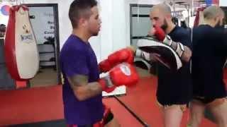 Muay Thai Pad Work At Sitan Gym Long Island