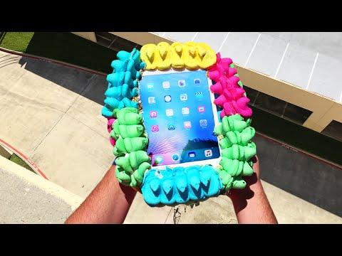 Thumbnail: Can 400 Peeps Protect iPad Air from 100 FT Drop Test? - GizmoSlip
