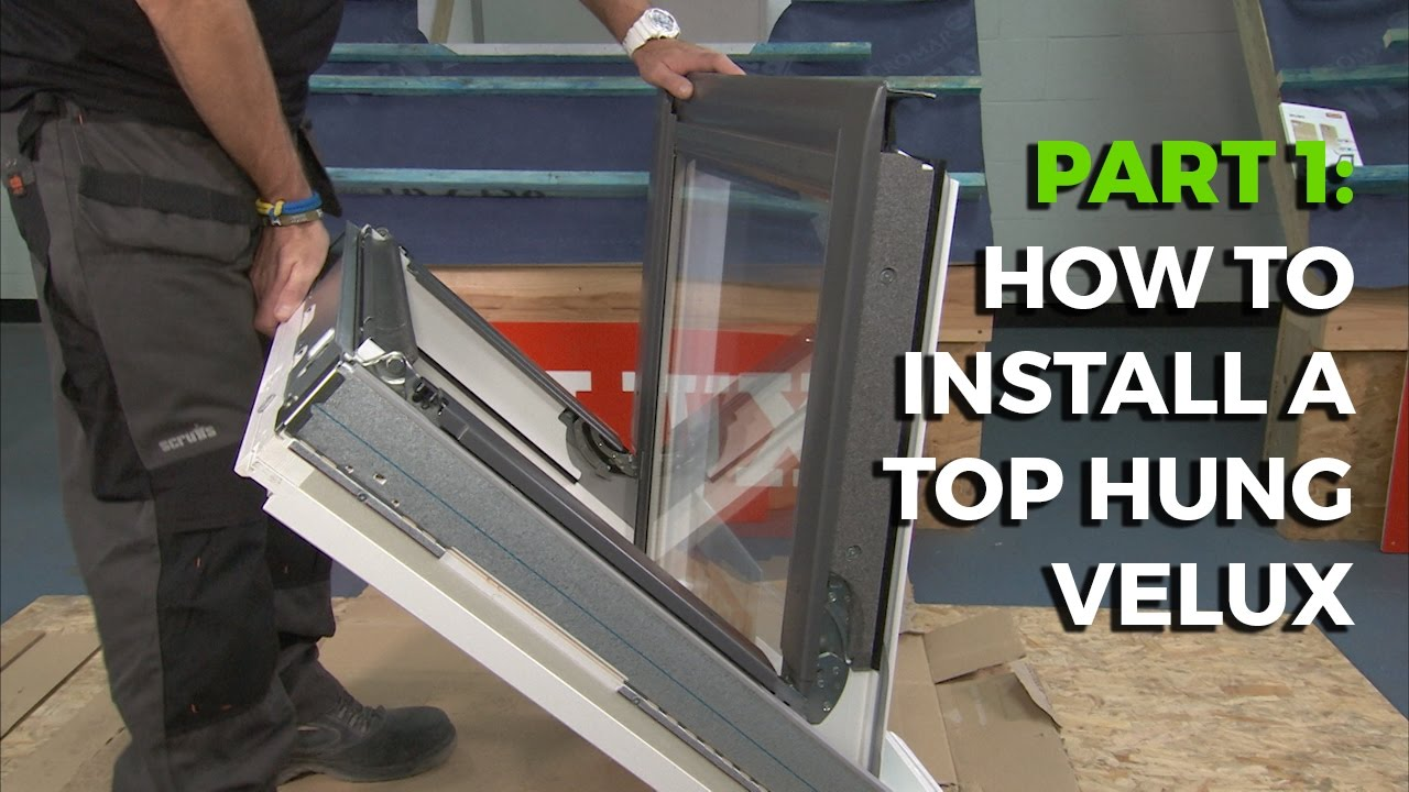 How to fit or install a velux the installation guide ( fitting.