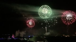 FULL July 4th 2015 fireworks show over Magic Kingdom at Walt Disney World from Contemporary