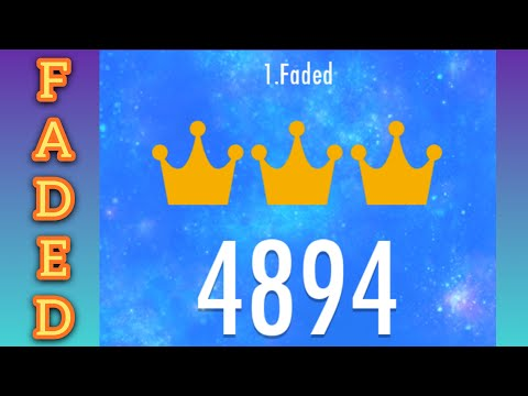 Piano Tiles 2 Faded - 4894 Score (15TPS) | First Try! | Legendary World Record | By iLegendianoth