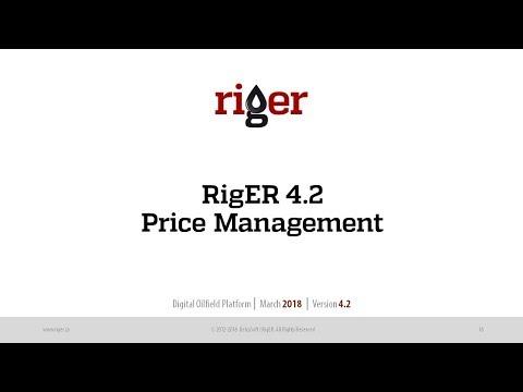 Price List and Agreement. Price Management. Oilfield Software. RigER Digital Oilfield Platform