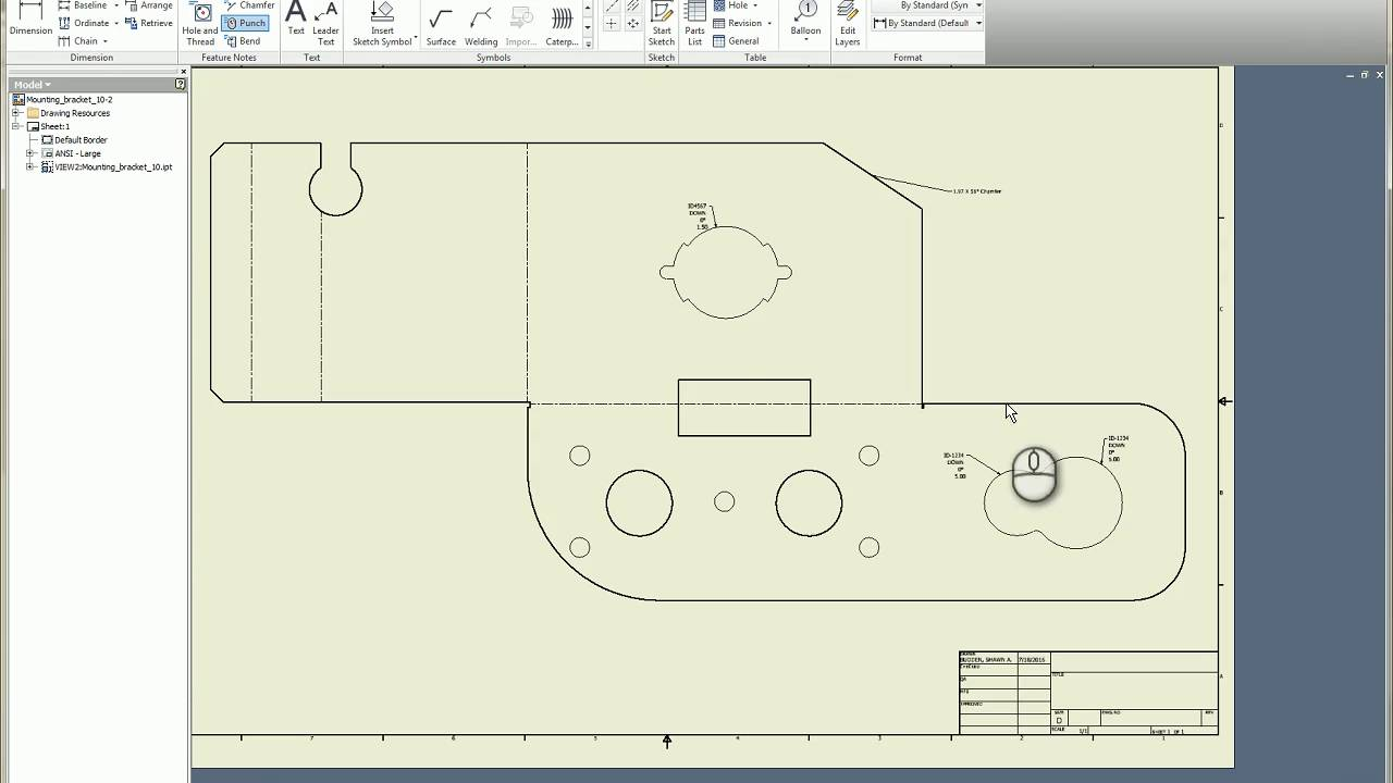 Inventor Sheet Metal Punch And Bend Notes Youtube
