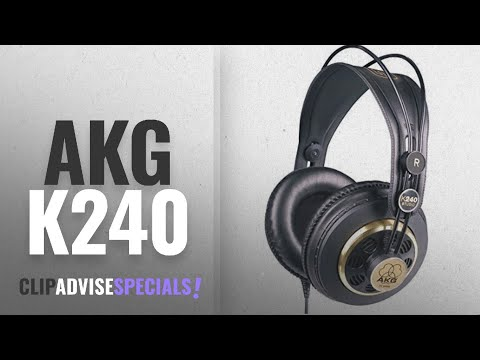 Top 10 Akg K240 [2018]: AKG K 240 Semi-Open Studio Headphones