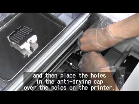 Epson SC-F2000 DTG Maintenance - Head Cleaning Kit Usage