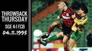 Am 4. november 1995 gab's für den rekordmeister in frankfurt nix zu holen. unsere eintracht gewann dank einer tollen leistung mit 4:1! unser throwback thursd...