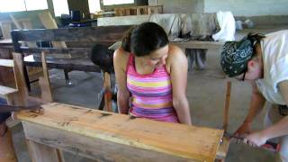 Girls Building Desk
