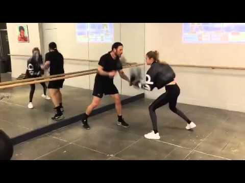 Gigi boxing at the Gotham Gym