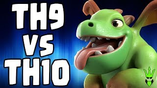 TH9 VS TH10 USING BABY DRAGONS, IS IT GOOD? - Baby Dragon Event - Clash of Clans - TH9 Pushing Army