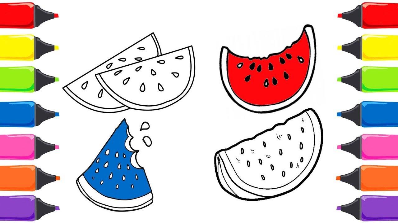 Karpuz Boyama Meyveleri öğreniyorum Boyama Oyunları Sihirli