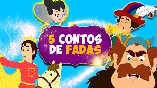 5 Contos de Fadas em Português | Contos Infantis | História infantil para dormir