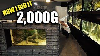 HOW THE 2,000G AQUARIUM WAS MADE