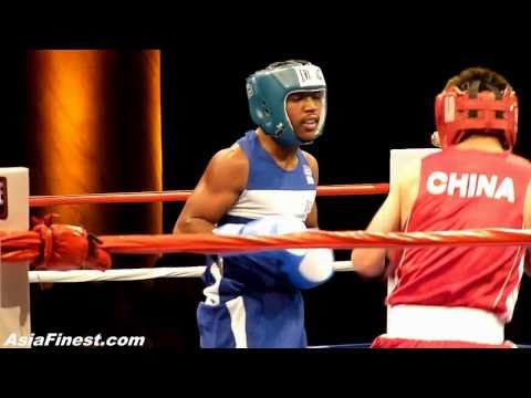 China Bilige Huricha vs USA Michael Reed at Empires Collide Olympic Boxing Event in NY