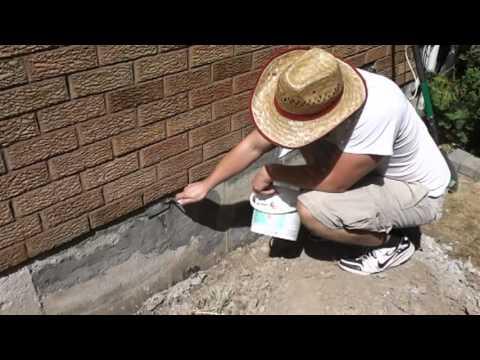 Concrete Foundation Repair Parging DIY
