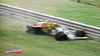 Herm Johnson Big Crash 1985 Indy 500 Practice