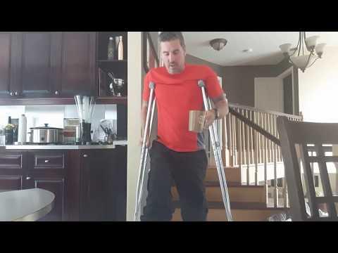 Broken Fibula 3rd week - x-rays - crutches technique