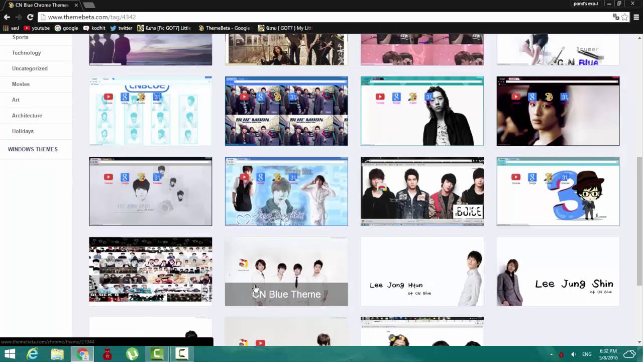 Google themes got7 -  Theme Google