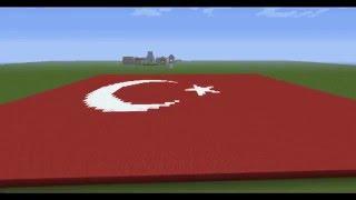 minecraft Türk bayrağı yapımı HD