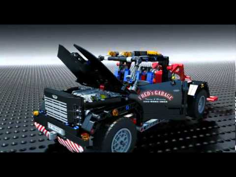 lego technic 9395 pick up tow truck lego 3d review. Black Bedroom Furniture Sets. Home Design Ideas