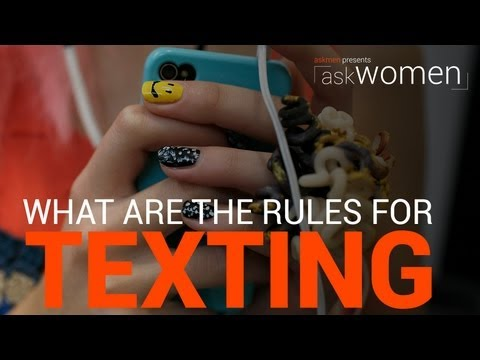 texting rules and dating