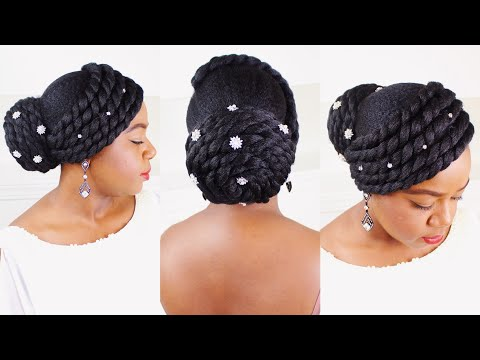 FAUX UPDO ON NATURAL HAIR - BRIDAL HAIRSTYLES By Yasser K