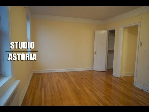 Large studio with city views for rent in Astoria, Queens, NYC