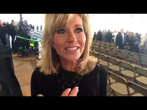 Beth Moore at Billy Graham's funeral