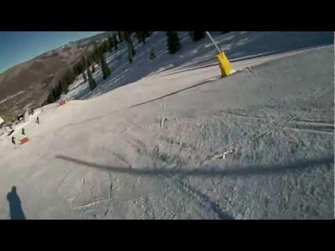 Aspen Mountain ski area top to bottom run.