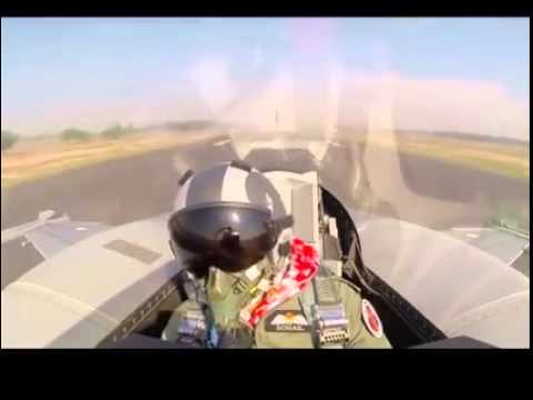 Pakistan Air Chief Marshal Sohail Aman Flying The F-16 Block 52+ on Pakistan Day Parade