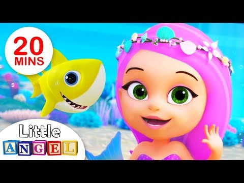 Baby Shark meets The Little Mermaid Princess| Kids Songs by Little Angel