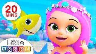 Baby Shark meets The Little Mermaid Princess| Kids Songs by Little Angel