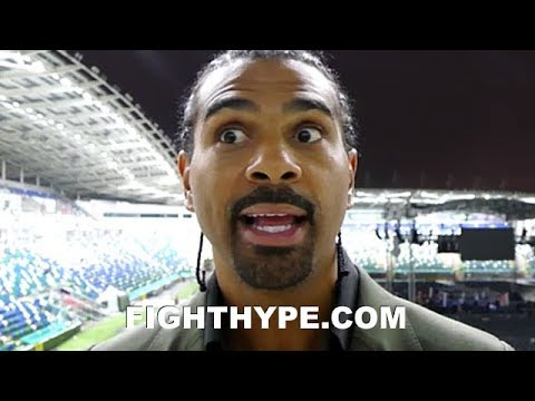 DAVID HAYE REACTS TO WILDER VS. FURY ANNOUNCEMENT; BREAKS IT DOWN AFTER WATCHING FURY RINGSIDE