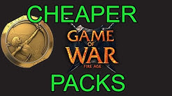 How to Get Cheaper In App Purchases (Cheaper Packs) - Game of War Super Wonder Weekend!