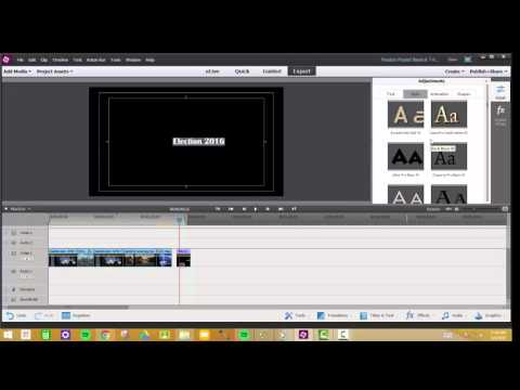Add Stand-Alone Titles And Overlay Titles In Adobe Premiere Elements