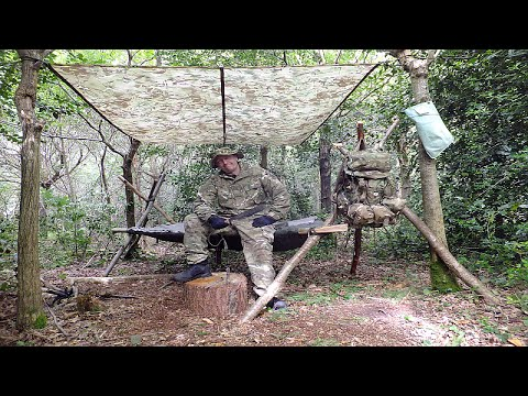 Survival Solo Forest 2, A-Frame Bed, Milbank Water, Wild Rabbit & Natural Flint Fire