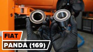 Cambiar Juego de frenos de disco traseras y delanteras FIAT PANDA (169) - instrucciones en video