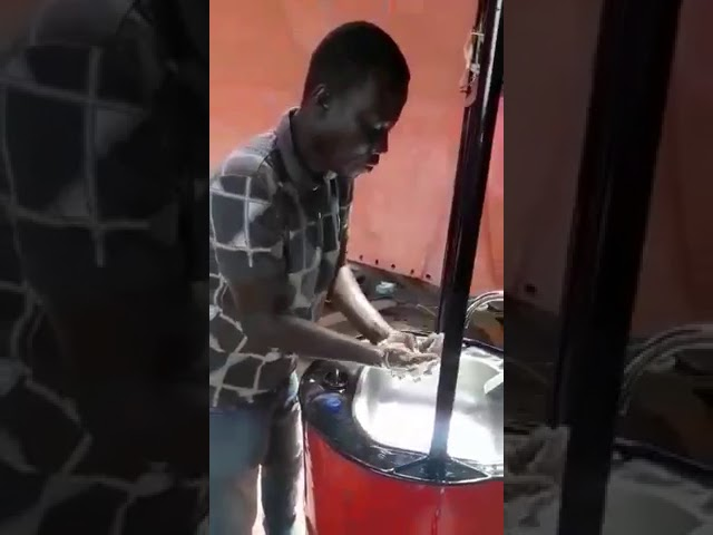 Ghanaian invents solar-powered hand sensitive hand washing machine !