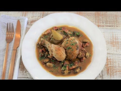 Easy Chicken Casserole Recipe With Bacon and Mushroom | (Poulet Cocotte Grand Mere )