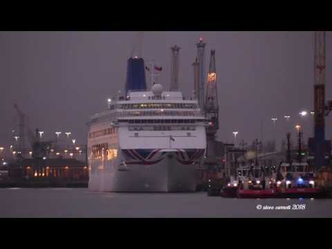 P&O Cruise Ship 'Oriana' returns to service to Cruise to Canary Islands after repairs 30/01/18